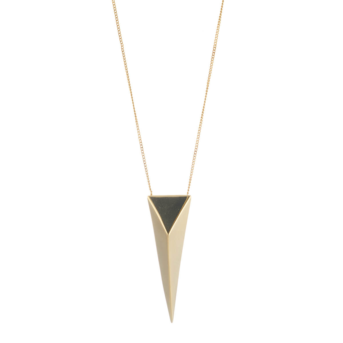 Large Pyramid Pendant Necklace