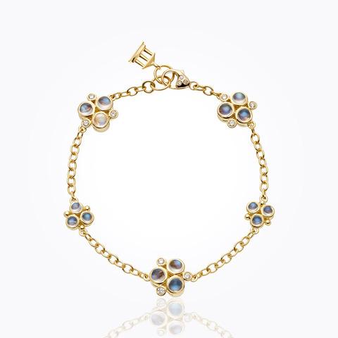 18K Lion Arno Link Bracelet with diamond