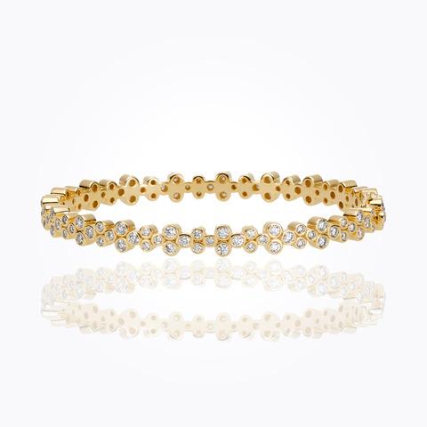 18K Mini Angel Bracelet with diamond pavé...