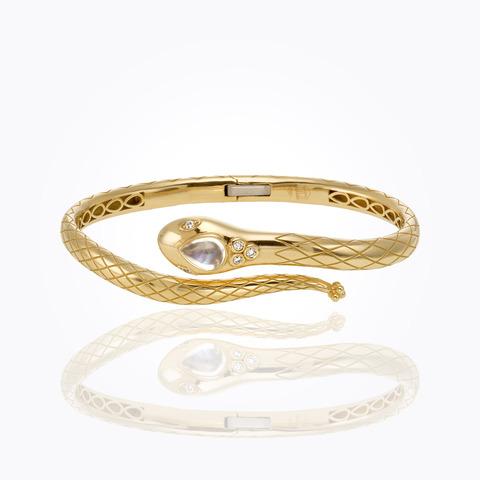 18k trio eternity bracelet with diamond