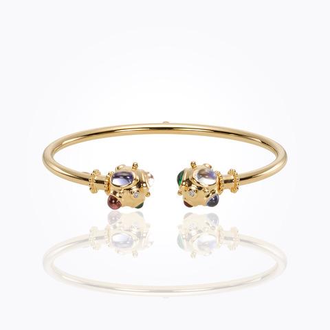 18K Cosmos Bellina Bracelet with royal blue moonstone, tsavorite, t...