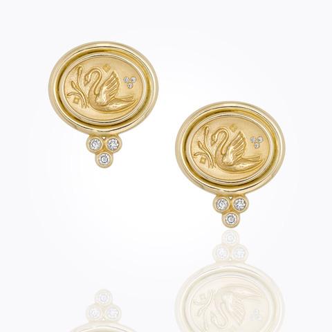 18K Cosmos Sphere Earrings w...