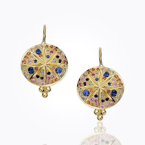 18K Small Oliva Hoop Earrings with diamond