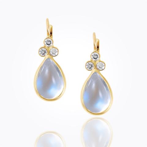 18K Beehive Amulet Drop Earrings