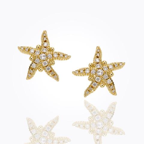 18K Classic Amulet Earrings ...