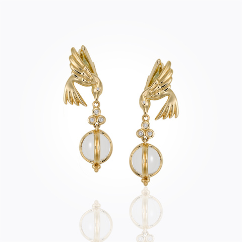 18K Lion Coin Earrings with ...