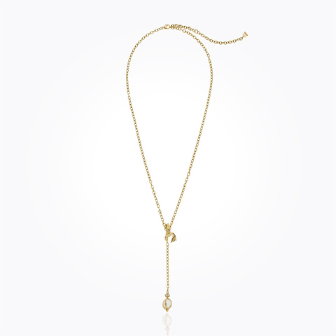 18K Honeycomb Y-Necklace