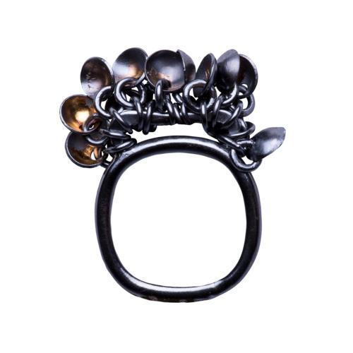 Dish Tassel Ring