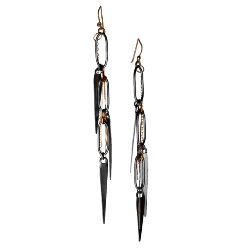 Shoulder Duster Spike Earrings