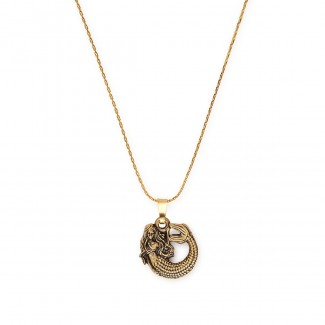 Fish Hook Two Tone Adjustable Necklace | David Lynch Foundation