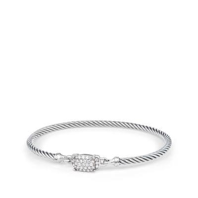Petite Wheaton Bracelet with Diamonds, 3mm