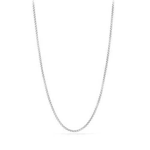 box chain necklace in 18k white gold, 2.7mm
