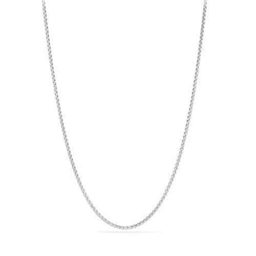 Box Chain Necklace in 18K White Gold, 1.7mm