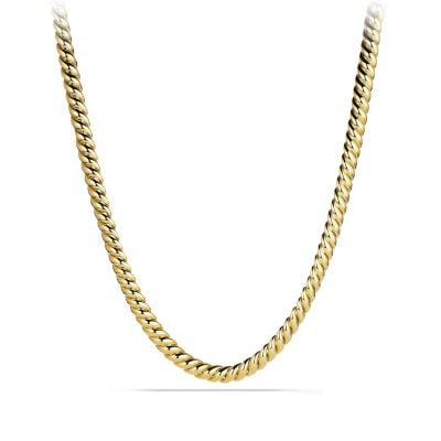 Hampton Cable Link Necklace in 18K Gold