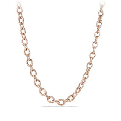 Large Oval Link Necklace in 18K Rose Gold