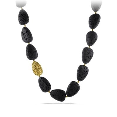 DY Signature Lava Necklace with 18K Gold