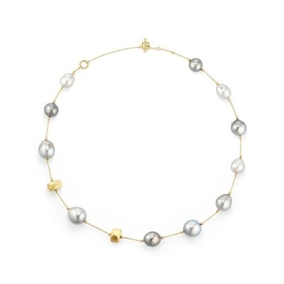 DY Signature Tahitian Grey Pearl Necklace in 18K Gold