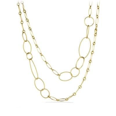 Mobile Link Necklace in 18K Gold