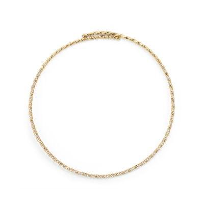 Pavéflex Single Row Necklace with Diamonds in 18K Gold
