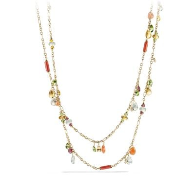 Bijoux Necklace with Citrine, Prenite and Peridot in 18K Gold