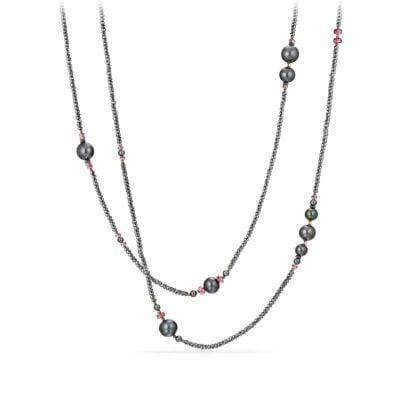 Oceanica Tweejoux Necklace with Pearls, Hematine and Rhodolite Garnet