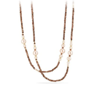 Oceanica Tweejoux Necklace with Pink Pearls and Andalusite in 18k Gold
