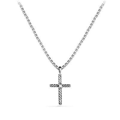Cable Classics Cross Necklace with Diamond
