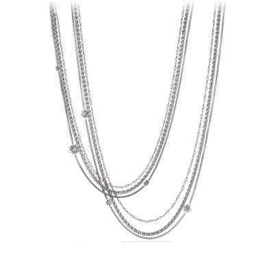 Starburst Chain Necklace with Pearls