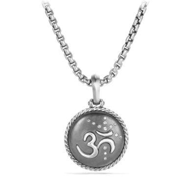 Om Amulet with Diamonds