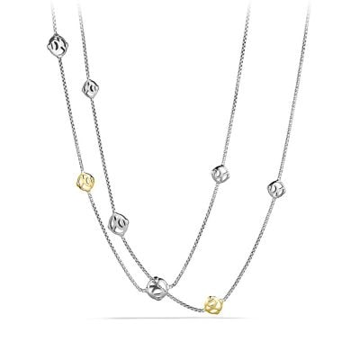 DY Logo Chain Necklace with 14K Gold