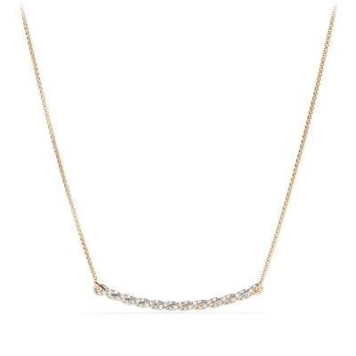 Paveflex Station Necklace with Diamonds in 18K Gold