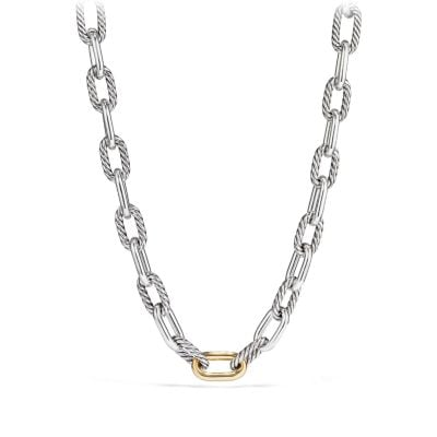 DY Madison Chain Large Necklace with 18K Bonded Gold, 13.5mm