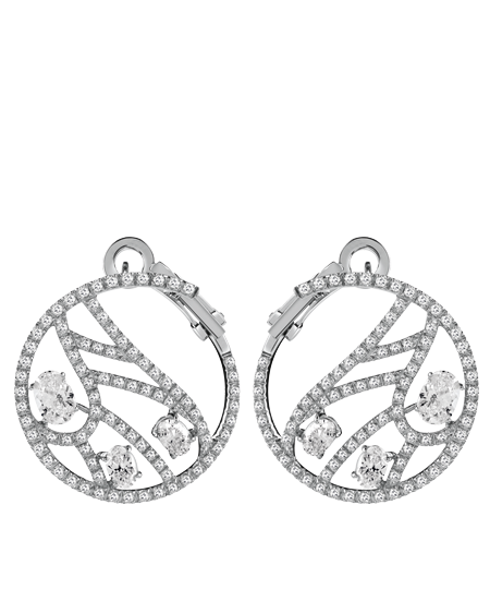 White gold and diamonds earrings