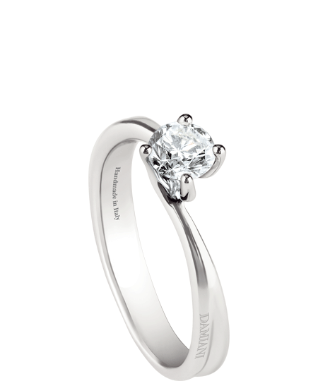 Beauty – white gold solitaire ring