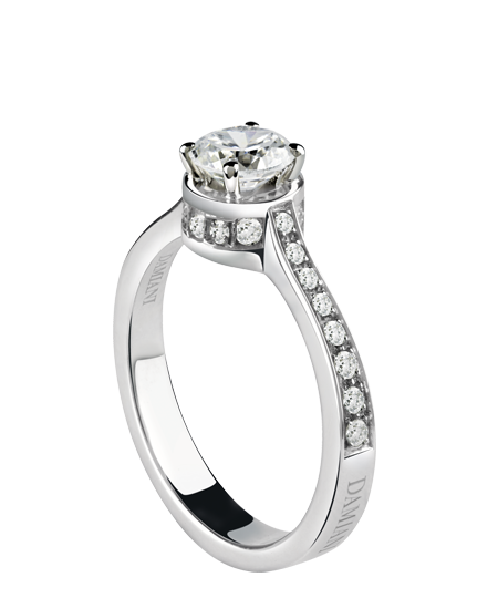 Belle epoque – white gold solitaire ring