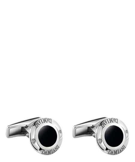 White gold, black ceramic and diamons cufflinks
