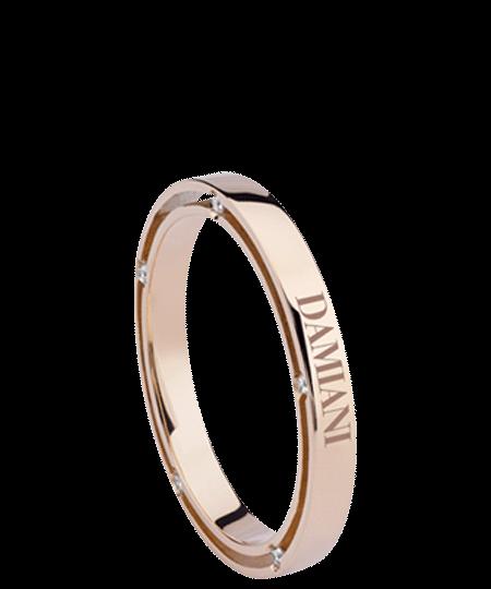 pink gold and diamonds wedding band