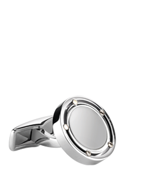 Cufflinks in gold and steel
