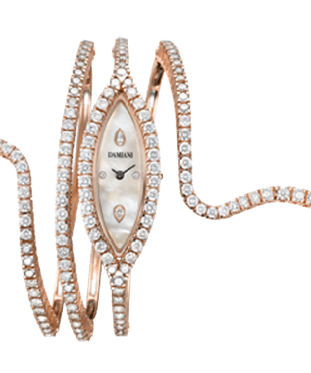 pink gold and brown diamonds watch