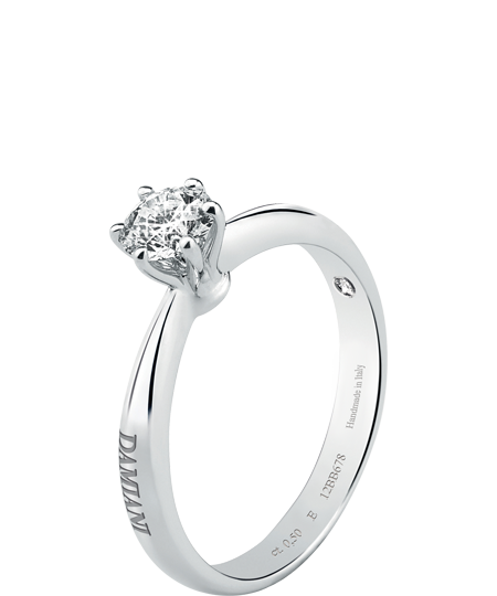 Elettra – white gold solitaire ring