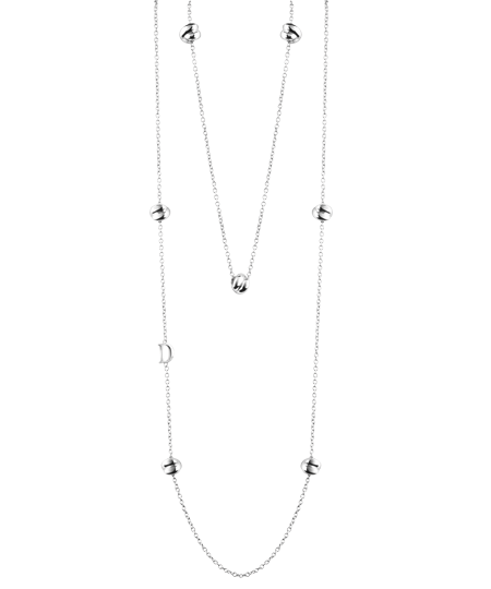 Silver necklace with diamond