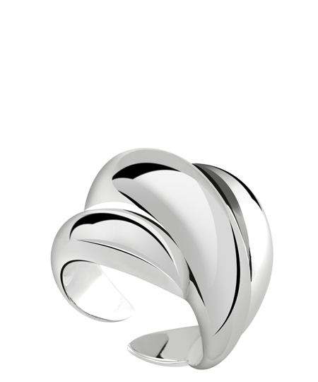 Ring in silver with diamond