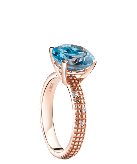pink gold , diamonds and topaz