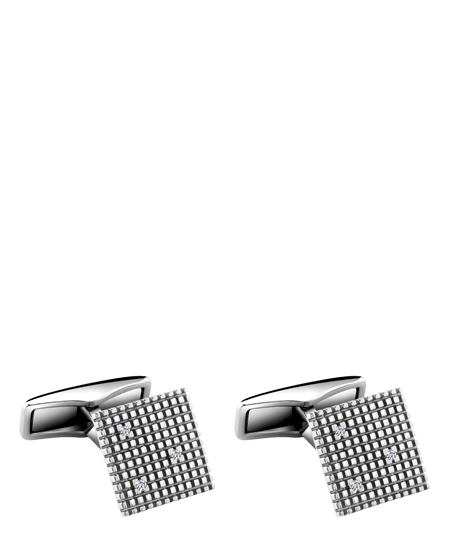 White gold and diamonds cufflinks