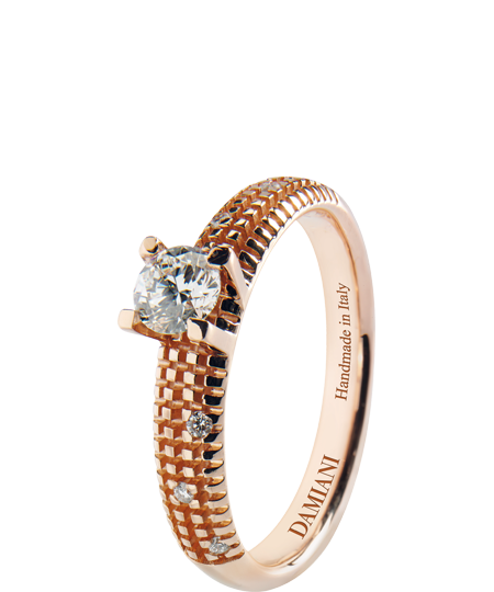 Metropolitan dream – pink gold solitaire ring