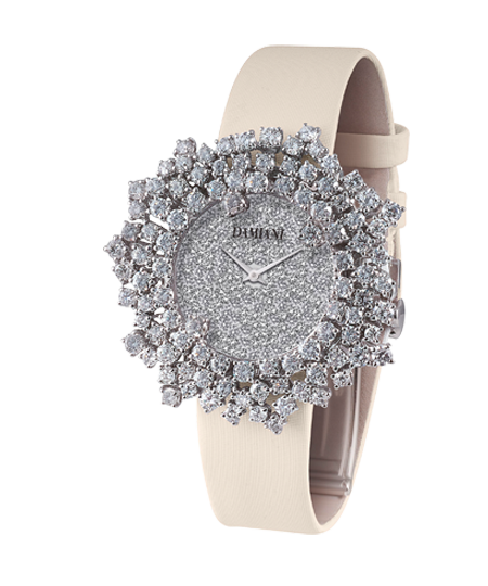 white gold and diamonds watch