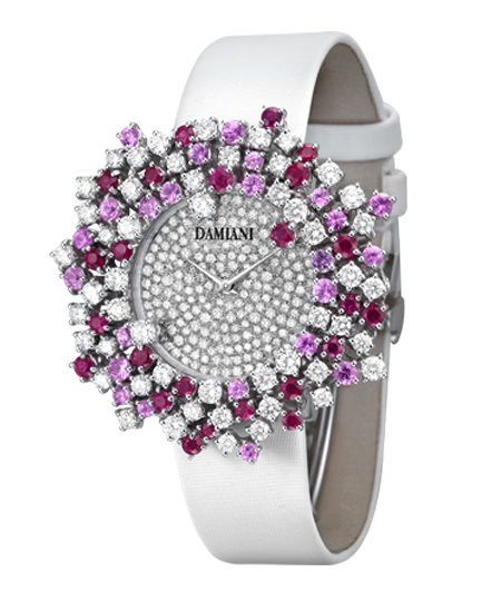 mimosa 38mm rubies and pink sapphires watch