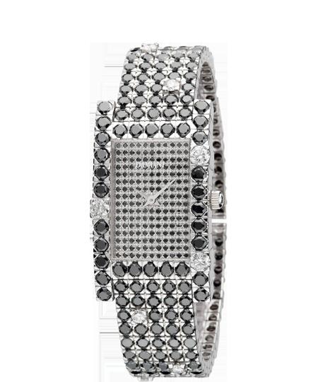 black diamond full pave' watch