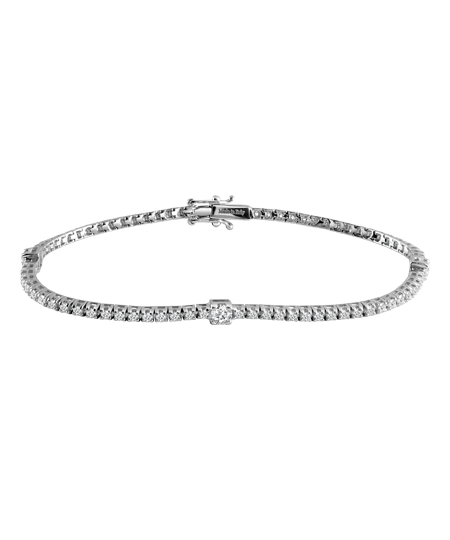 white gold and diamonds tennis bracelet