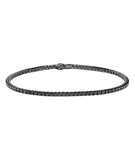 Balck gold and black diamonds tennis bracelet